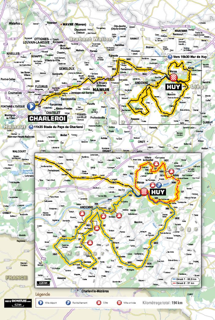 Flèche Wallonne carte