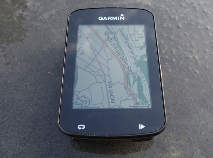 Garmin Edge 820 map screen