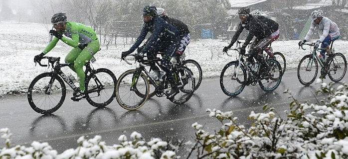 Milan Sanremo snow