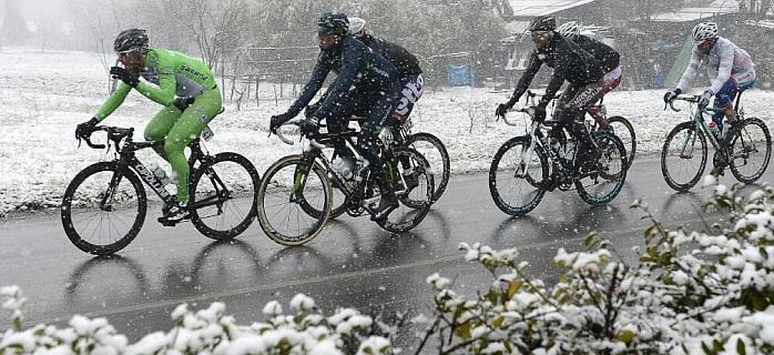 Milan Sanremo snow