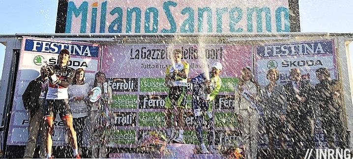 Milan Sanremo podium