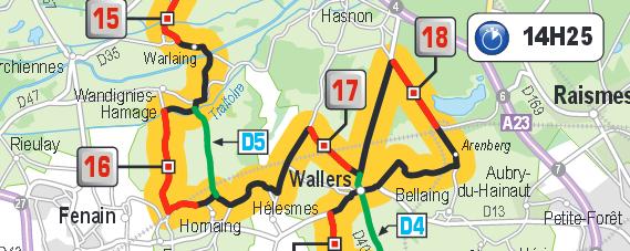 Paris Roubaix map