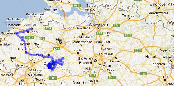 Ronde Vlaanderen map