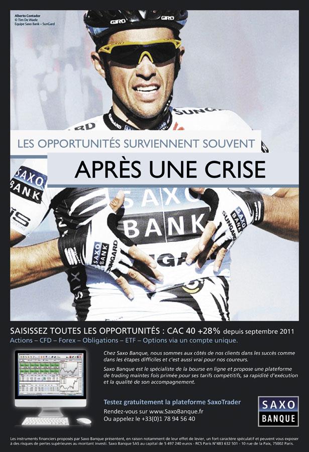 Saxo publicité Contador