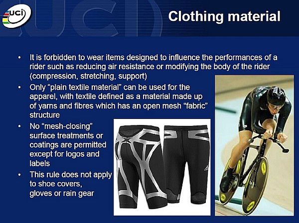 UCI clothing regulations