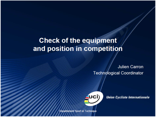 new uci rules on bikes, equipment and clothing, Uci Presentation Template, Presentation templates