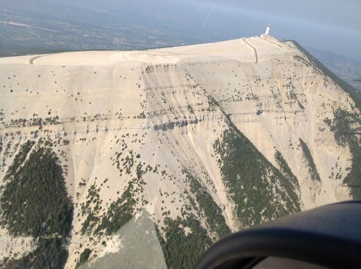 Mont Ventoux from air