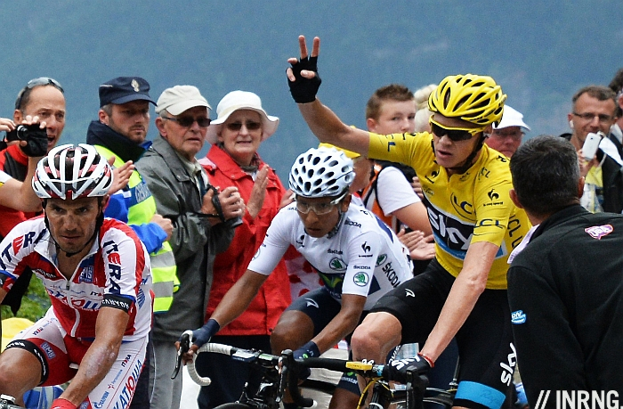 Chris Froome gel Alpe d'Huez