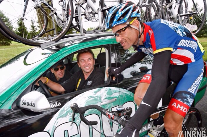 George Hincapie Lance Armstrong