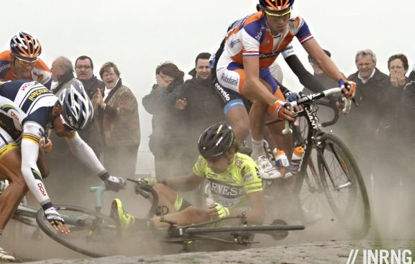Roubaix crash
