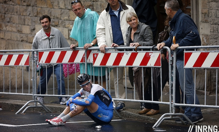 Vincenzo Nibali crash florence worlds 2013