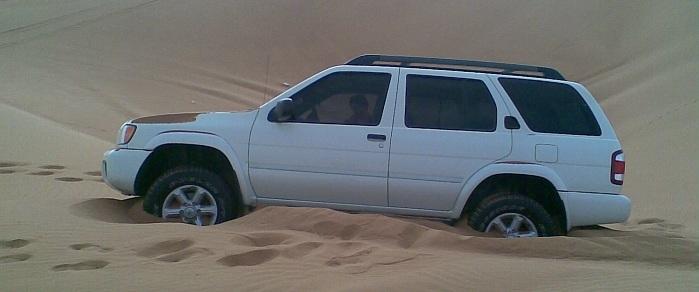 Car in sand