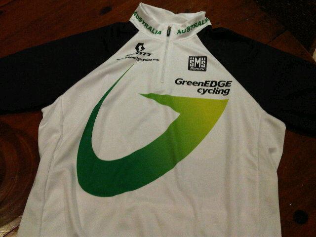 Green edge jersey