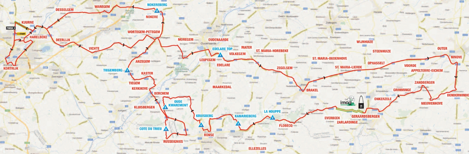 Kuurne Brussel Kuurne map