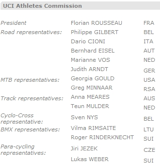 UCI Athlete Commission
