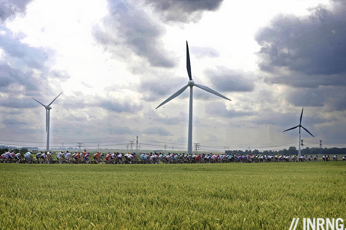 Tour de France wind turbine